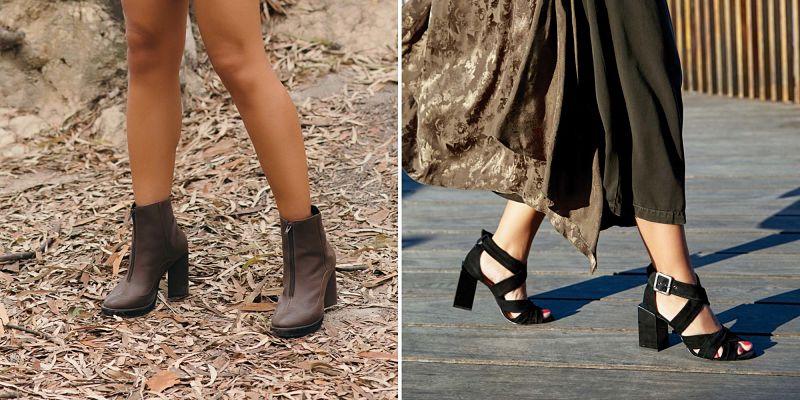 Modelos de sapatos e sandálias para outono/inverno.