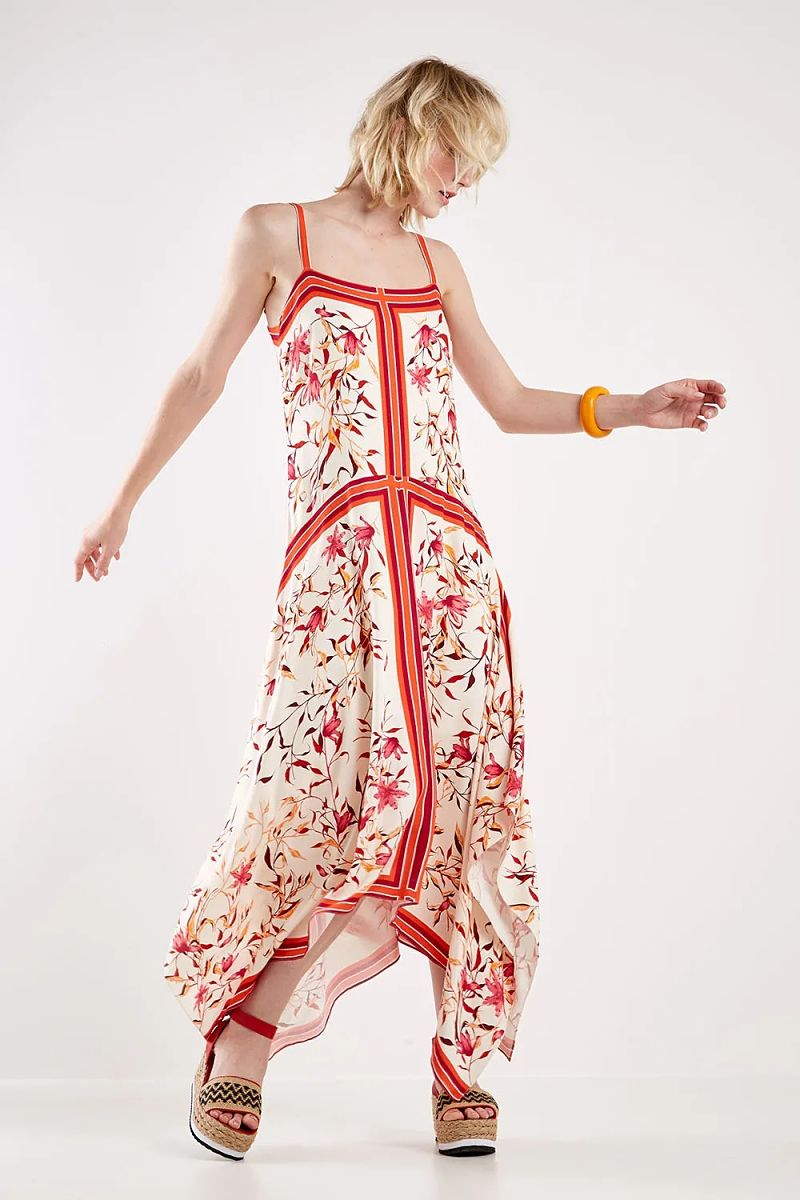 vestido lenço floral como usar