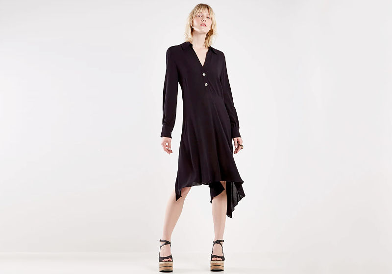 vestido chemise preto