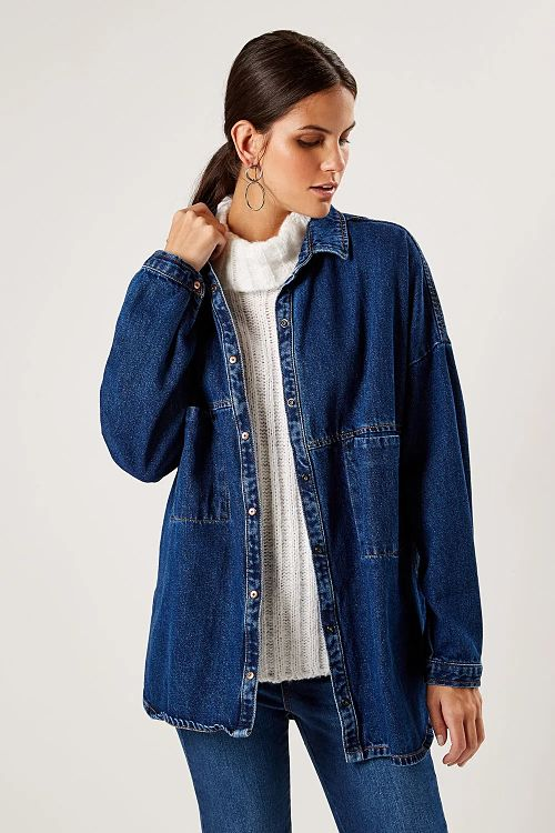 jaqueta oversized jeans