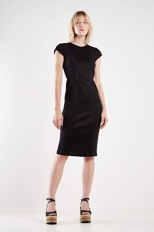vestido brilhoso preto