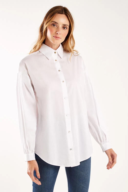 camisa branca de botao